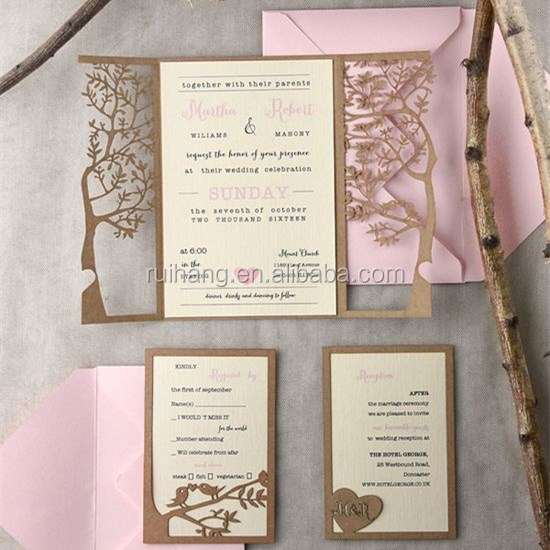 Laser Cut Wedding Card Laser Cut Wedding Card Suppliers and