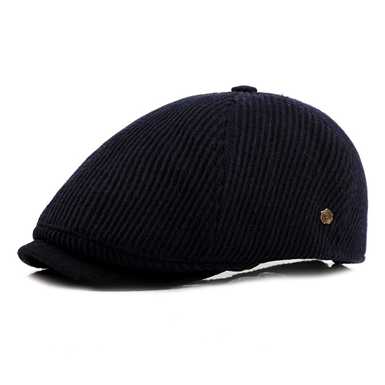 6d67c79feb0 Get Quotations · WAZZIT Solid Corduroy Cap Classic Blank Cap Ivy Irish  Cabbie Flat Golf Driving Hat