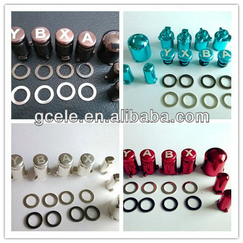 Zinc Alloy Adjustable Buttons (ABXY+Guide/Start/Select) for Xbox360 Controllers--Made in China