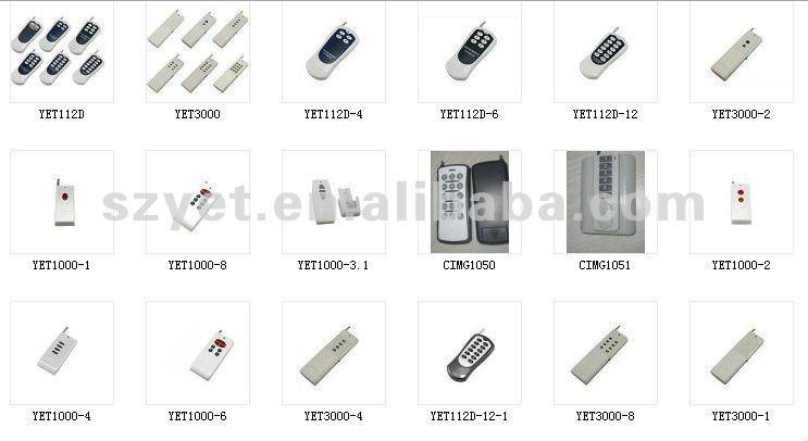 transmitter pt2272 l4 receiver 4 channel garage door opener motor remote control