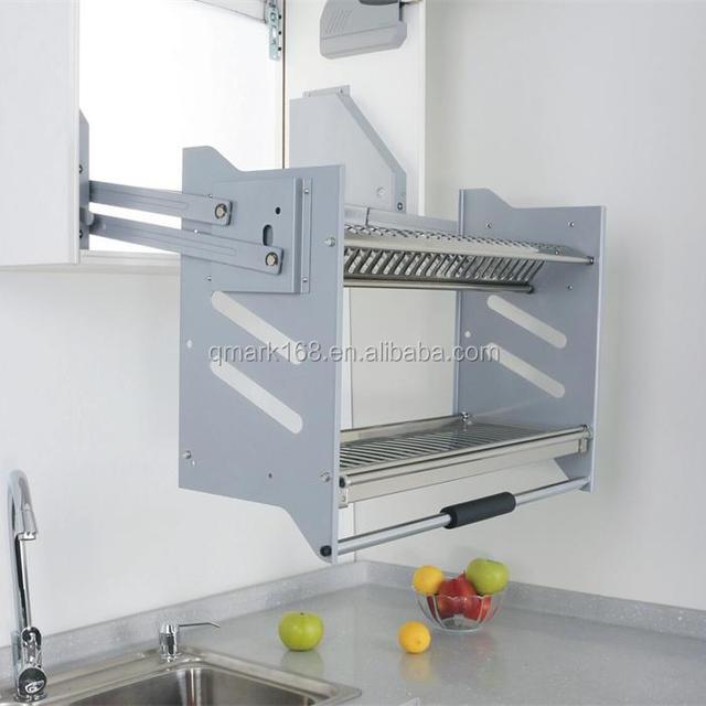 Kitchen Cabinet Storage Basket Elevator /Kitchen Cabinet Drawer Basket With Stainless Steel Dish Rack ( & cabinet storage basket-Source quality cabinet storage basket from ...
