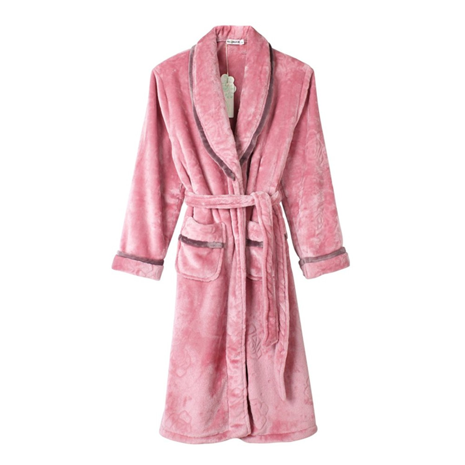 86c05f02f9 Get Quotations · autumn and winter robe and pajamas Lady winter thick coral  fleece robe  ladies Pajama