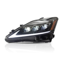 For VLAND Factory Wholesales Sequential 2th Gen XE20 IS 220d/F 300 350 GSE20 Head Lamp 2006-2012 Full LED  IS250 Headlight