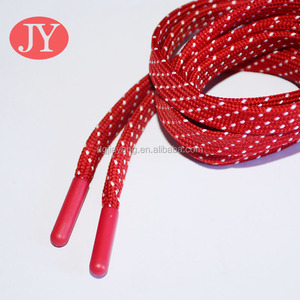 Stable Red color flat lace end lock