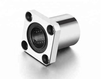 Metric square flanged ball bushing with UU seals LMK 10 UU