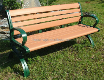 Cheap New WPC Outdoor Bench Wooden Plastic Composite WPC Garden Bench Slate Garden  Benches