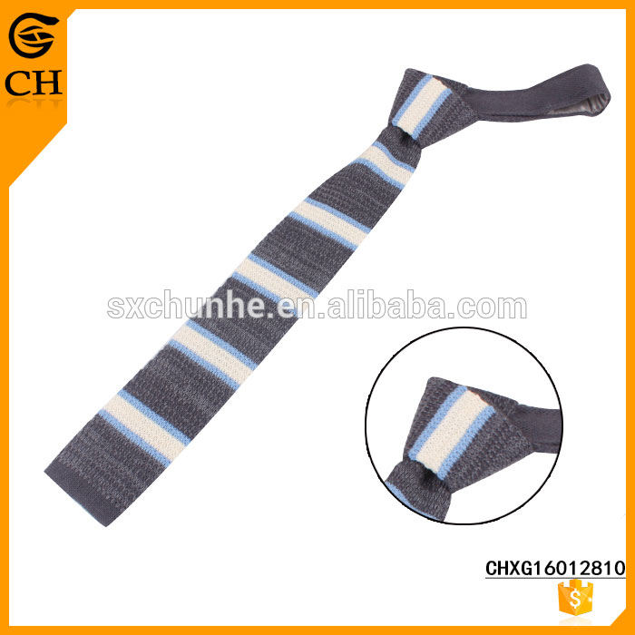 Hot Sell Newest Design Stripe knit tie for individual buyer