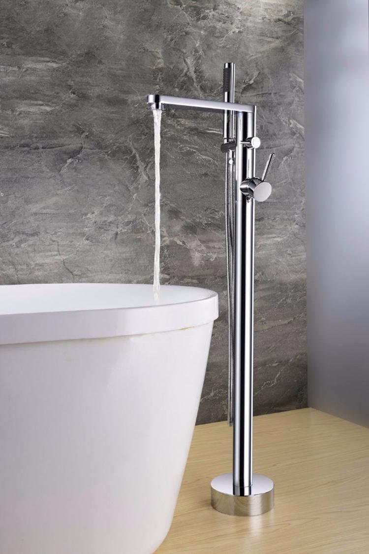Latón baño grifo de la ducha con ducha y baño grifos libre bañera grifo