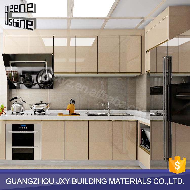 JeeneShine guangzhou factory ready made affordable modern kitchen cabinets with sink