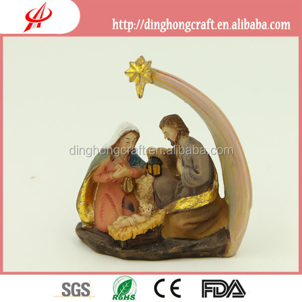 polyresin craft - nativity scene