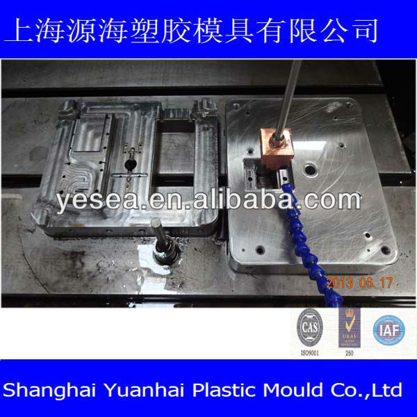 TV remote control cover mold for mold center electrode handle