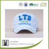 BSCI Audit letters LTD cotton white cheap custom embroidery flat brim snapback cap