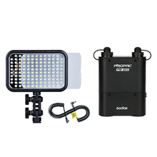 1pcs/lot Godox LED 126 Video Light + PB960 Battery Pack + LX Power Cable Kit For Digital Camera Photography