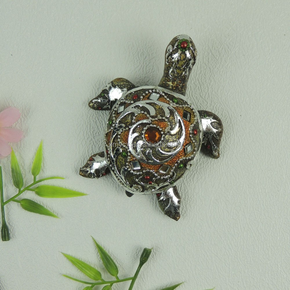 Mini Resin Crafts Colorful Turtle Figurines for Souvenirs