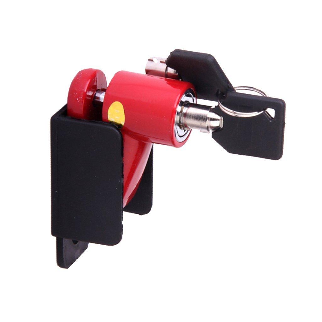 Motorcycle Disc Brakes Rotor Lock Security Bicycle Lock - Red