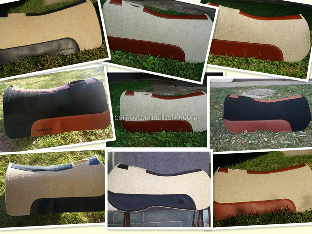 Custom Wholesale Wool Felt Horse Products Equestrian Saddle Pad