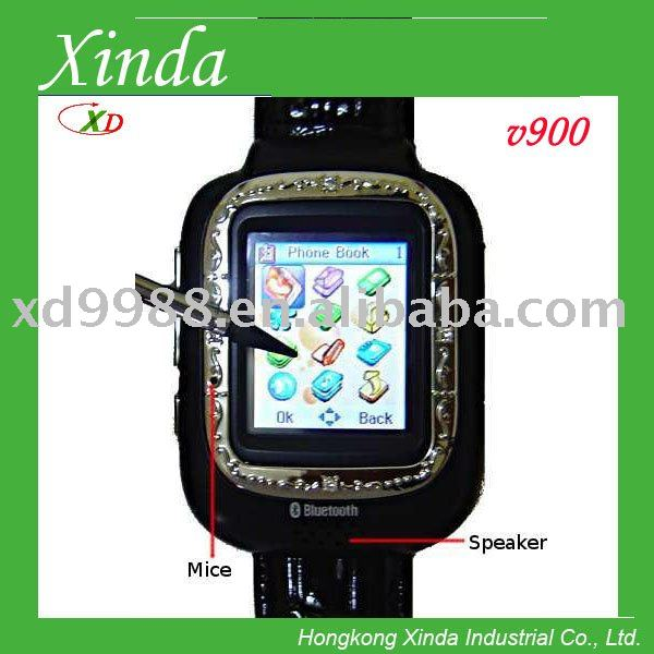 V900 chinese watch mobile phone with camera and bluetooth mp3 mp4