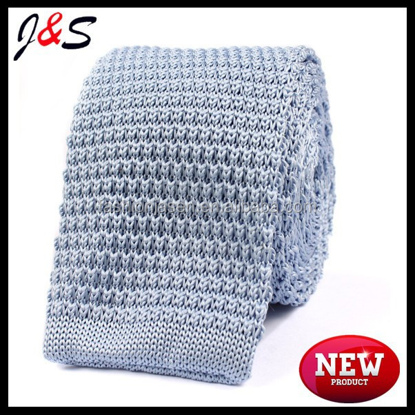 new men's high quality light blue knitted tie KT031