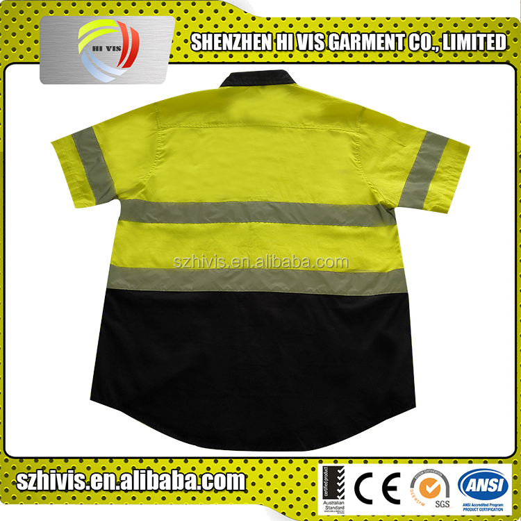 Custom Soft Works Clothing Manufacturing Orange Style Hi Vis Shirt