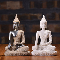 Small Sitting Buddha Statue Resin crafts Creative Sculpture Home Decoration Gifts