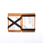 Fashion Oil Wax Leather Magic Wallet RFID Anti-magnetic Card Wallet Personalized Wallet Money Clip