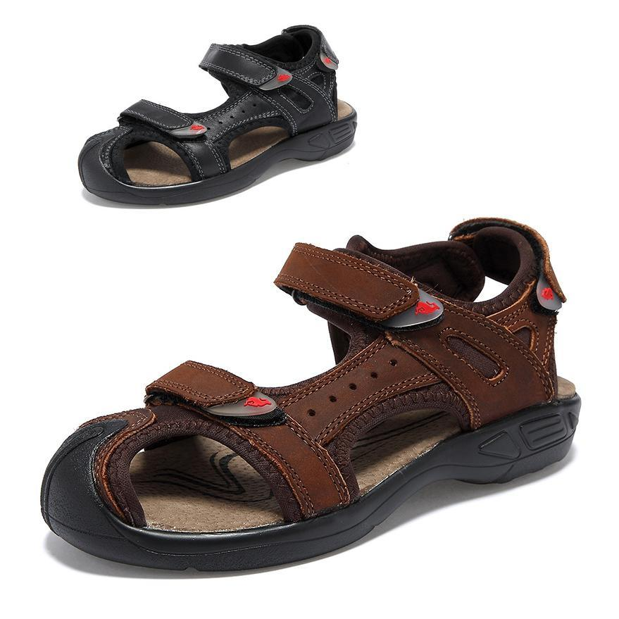 Fashion Children Sandals Boys Closed Toe Kids Genuine Leather Soft Sole Shoes Beach In Price On M Alibaba