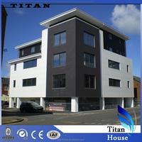 Three Storey Prefab Modular Residential Commercial Building in Turnkey