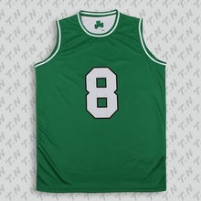 High quality custom polyester basketball jersey uniform design green
