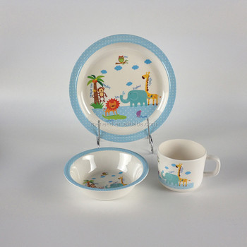 Plastic Food Container Children\u0027s Plastic Dinnerware Set Melamine Cup Melamine Bowl Melamine Plate 3 pieces Dinner & Plastic Food Container Children\u0027s Plastic Dinnerware Set Melamine ...