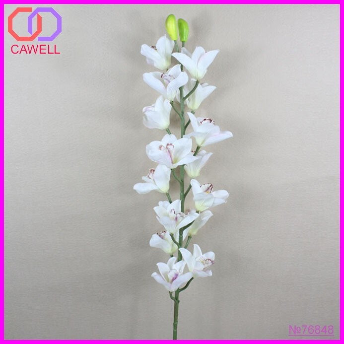 white artificial species of orchid