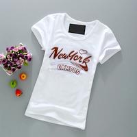 Custom Girl Viscose Ring Spun Cheap T Shirt