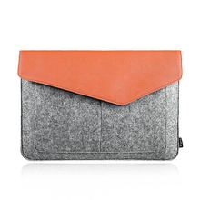 "Gray Felt & Leather Carrying Bag Case Sleeve Perfect to Protect 13"" Laptop,Notebook"