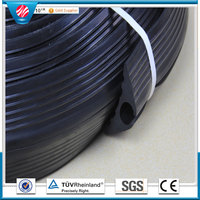 Outdoor 1 Channel Rubber Floor Cable Protector