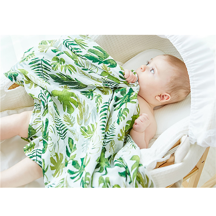 Muslin tree custom printed anti-pilling baby muslin wrap swaddle blankets