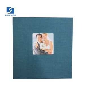 Photo Album self adhesive DIY Scrapbook 40 Pages linen cloth cover screw post bound album