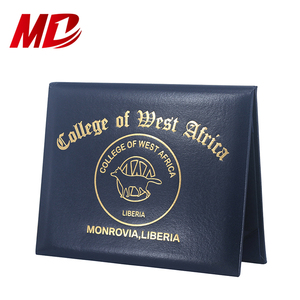 Customized factory direct smotth leatherette paper diploma graduation degree holder certificate cover