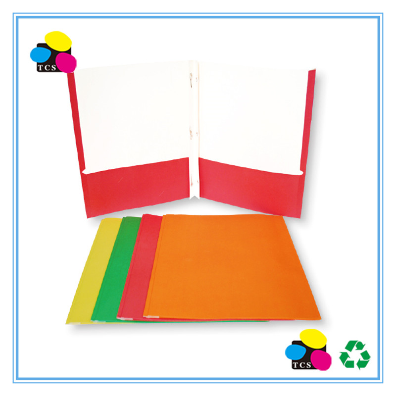 Two-pocket Portfolio 3 Prongs, Assorted color A4 / letter OEM/ OME Supporting