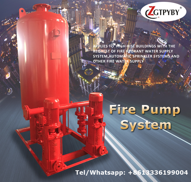fire pumps fire fighting equipments inline booster fire pump system