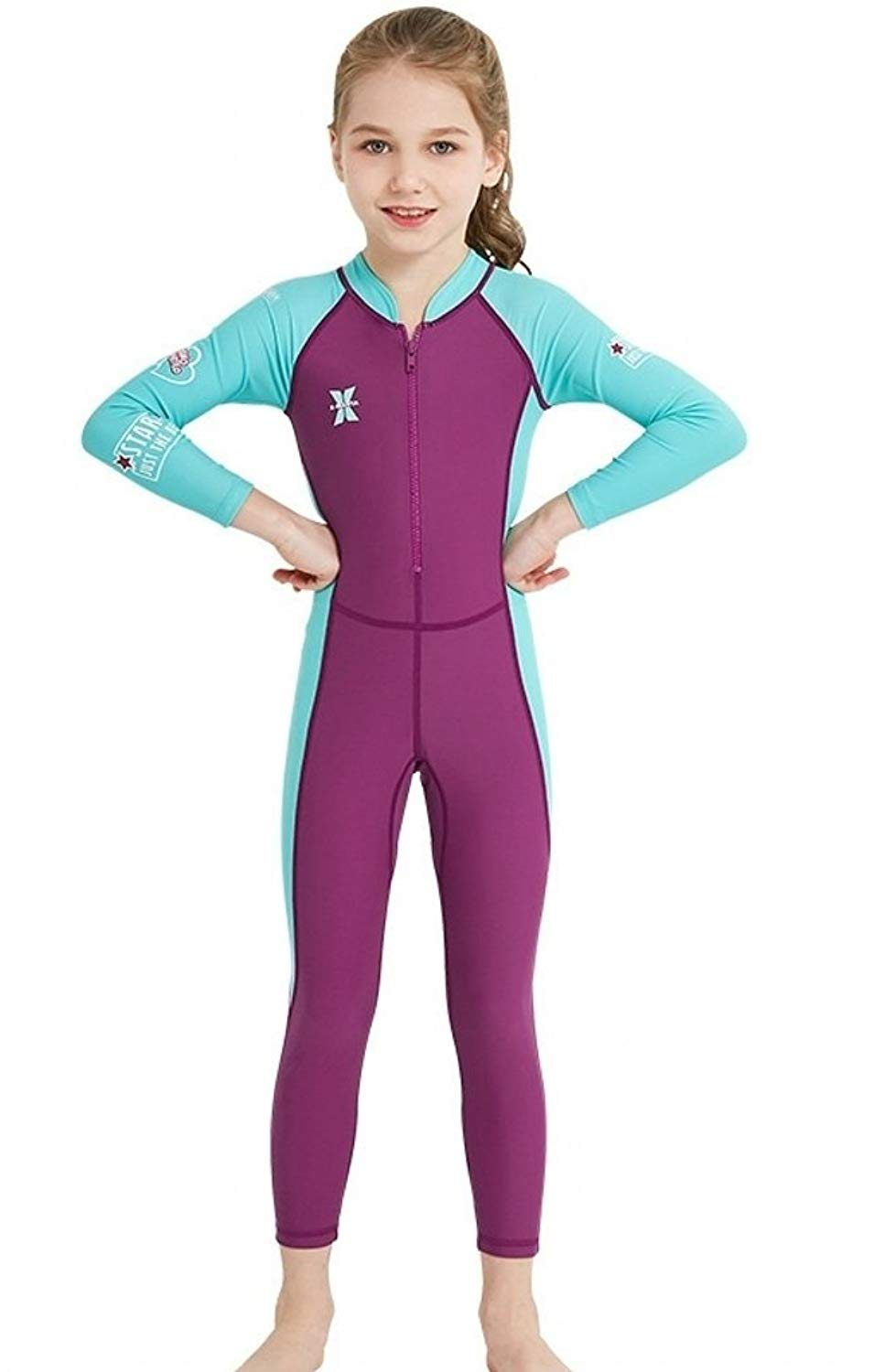 d806663ec4b4e Get Quotations · ESEL Kids Boys Girls One-Pieces Swimsuits UV Protection  Keep Warm Diving Suits