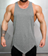 2017 New arrival fitness gym grey tank top for man