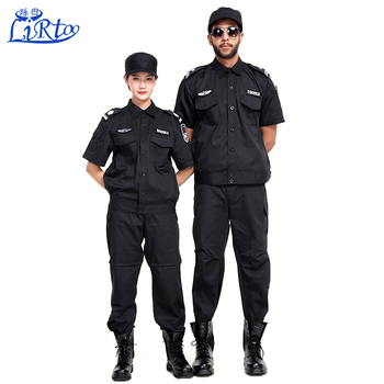 46aa9522 2017 Latest Unisex European style and American style security guard  Military uniforms Black