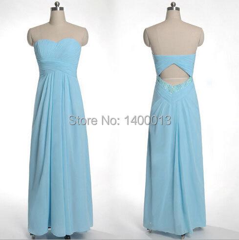 d69bd39dc9a Get Quotations · Real Photo Hot Design Simple Sweetheart Neckline Chiffon  Light Blue Cheap Long Bridesmaid Dresses robe demoiselle