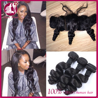 Loose Wave Cambodian Lace Frontal Closure With Bundles Full Lace Frontal Closure Free Part With Bundles 3 Bundles With Closure
