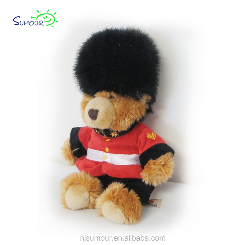 Keel Toys Queens Guard London UK Royal Bear Plush Stuffed Soft Toy Animal 11""