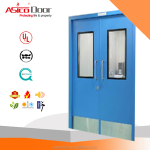 Cold Roll Galvanized Steel Door Fire Rating 3 hrs Hospital School Residential Used Fire Door