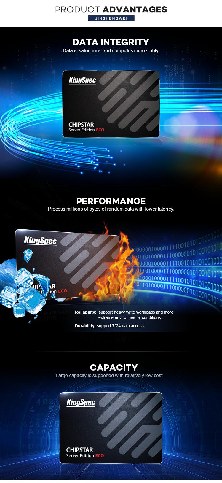 "KingSpec Wholesale Good Quality 2.5"" SATA SSD Hard Drive 960GB SSD SATA3 For Server"