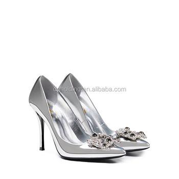 a6fdbe9e8db3 Women Pointed Toe Pumps Rhinestone Pearl Stilettos High Heel Wedding Party  Shoes