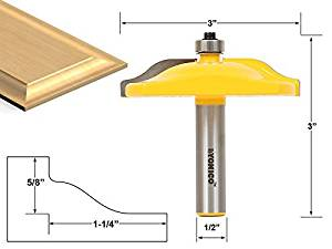 Yonico 12136 Raised Panel Router Bit with Ogee Door 3-Inch Diameter 1/2-Inch Shank by Yonico