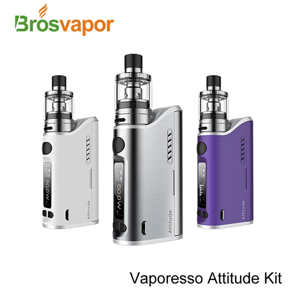 100% Original Vaporesso Attitude Vape Kit VW TC 80W Box Mod 4ml 2ml 2 In 1 Tank With EUC Coils