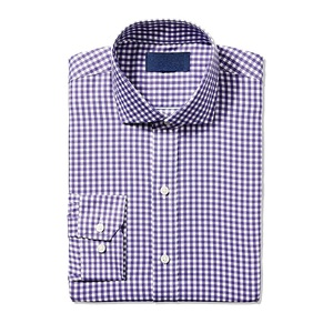 check shirt medium purple gingham cotton mens designer dress shirts
